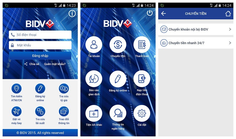 bidv - BIDV Smart Banking: Ứng dụng trên di động của ngân hàng BIDV
