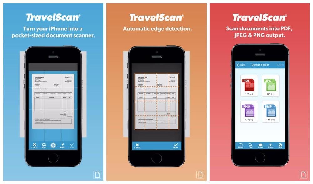 travelscan - Biến iPhone thành máy scan di động với Travelscan
