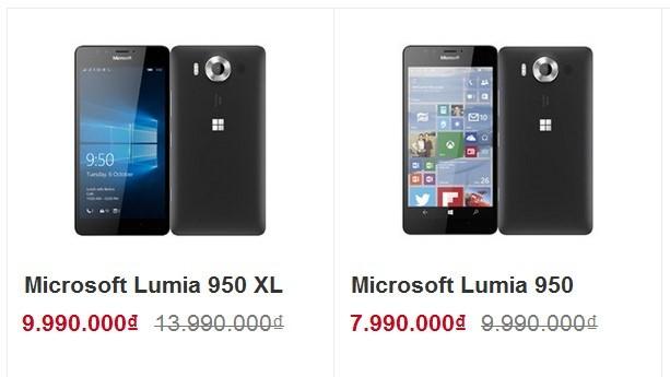 Đại lý 'cắn răng xả hàng', Lumia 950 giảm giá còn 8 triệu