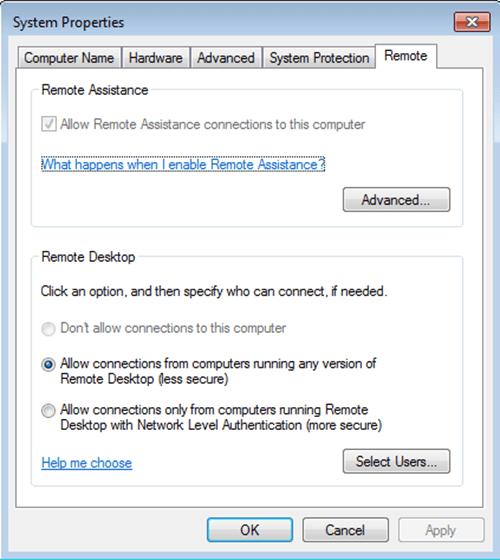 Điều khiển và sử dụng máy tính từ xa