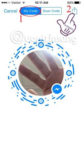 Hướng dẫn kết nối bạn bè trên Facebook Messenger bằng mã Code