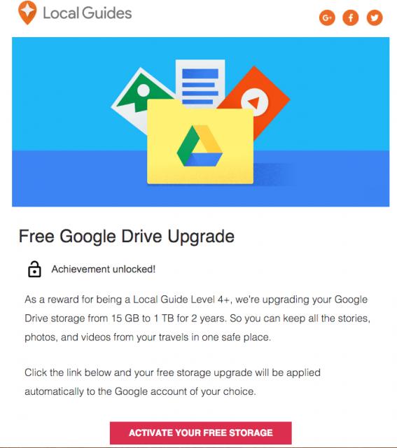 Hướng dẫn nhận 1TB dung lượng Google Drive miễn phí