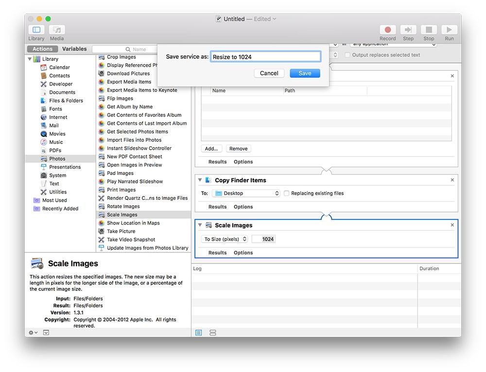 Hướng dẫn resize hàng loạt ảnh trên Mac sử dụng công cụ Automator có sẵn