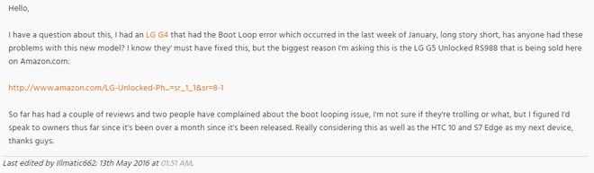 LG G5 gặp lỗi 'đột tử'