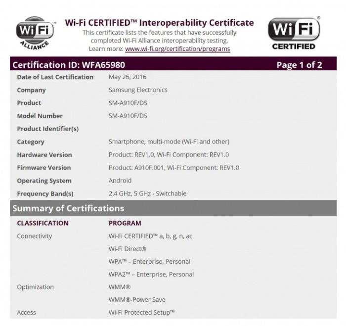 Lộ diện Galaxy A9 Pro phiên bản dành cho thị trường quốc tế