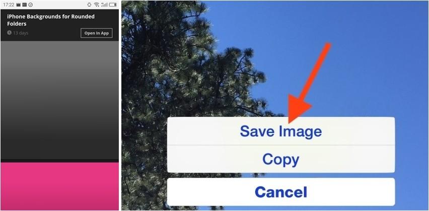 Mẹo tạo thư mục hình tròn trên iOS chỉ cần đổi hình nền