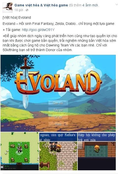 [Việt hóa] Tựa game Evoland huyền thoại