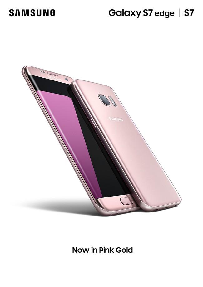 Galaxy S7 edge phiên bản hồng vàng giá 18,49 triệu đồng, bán ra từ 21/6