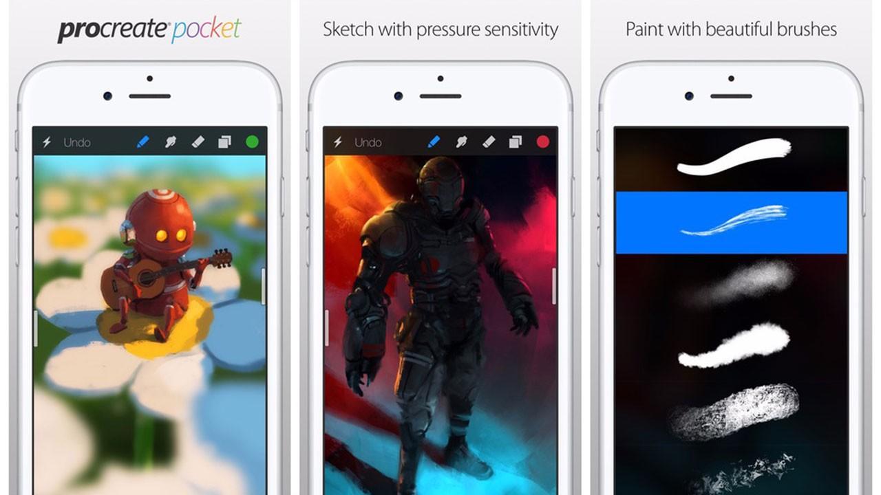 procreate - Tải miễn phí ứng dụng đồ họa Procreate Pocket cho iOS trị giá 2,99USD
