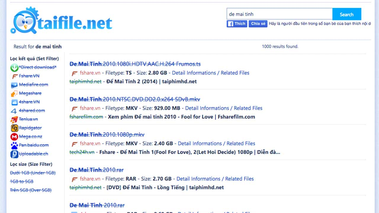 taifile featured - Hướng dẫn tìm file trên Fshare, 4share, MEGA.co.nz, Mediafire,...