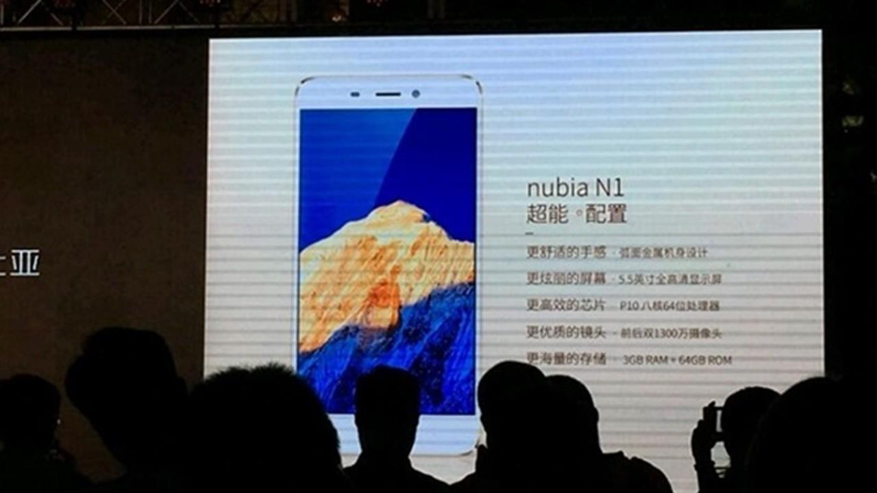 ZTE Nubia N1 trainghiemso - Sắp có thêm smartphone pin khủng 5000 mAh