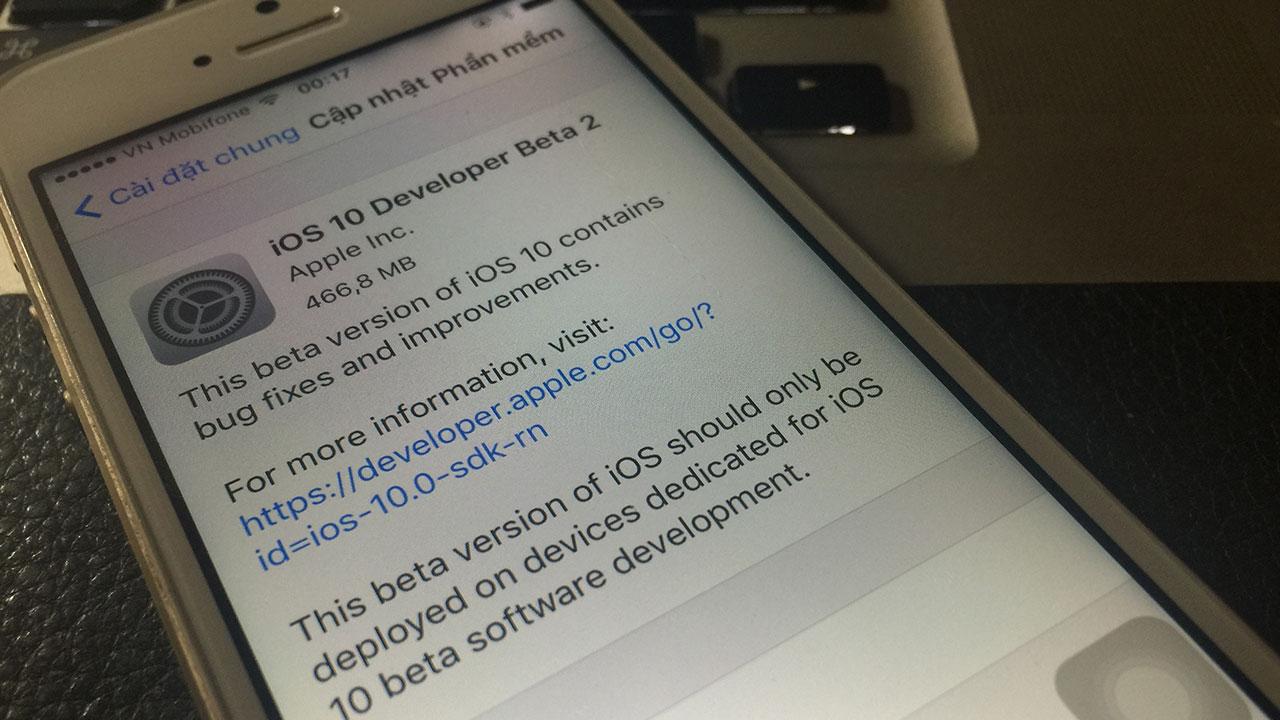 ios 10 developer beta2 - Apple cho phép tải về iOS 10 Developer Beta 2