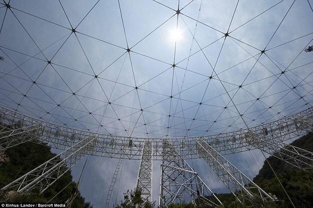 Những hình ảnh về kính thiên văn lớn nhất thế giới để tìm người ngoài hành tinh