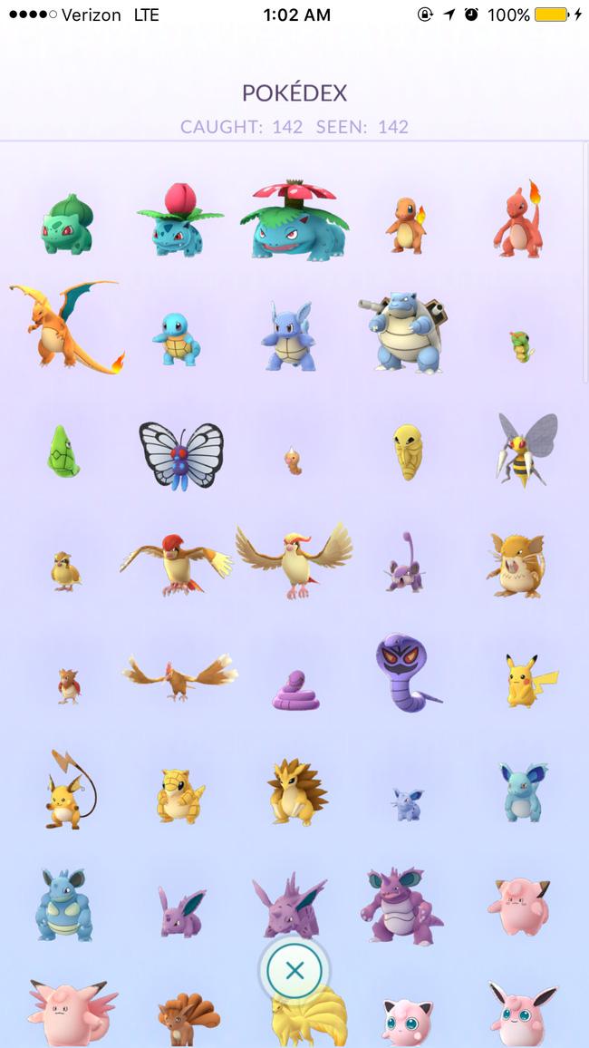 Xuất hiện người đã bắt được tất cả Pokémon trong Pokémon Go