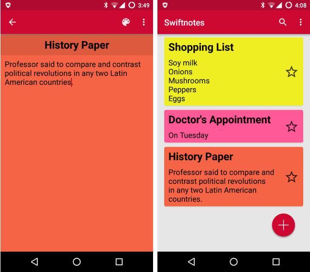 5 ứng dụng ghi chú mã nguồn mở cho Android