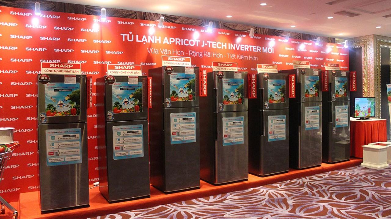 Hinh anh san pham tu lanh Apricot J Tech Inverter - Sharp ra mắt tủ lạnh mới với công nghệ J-Tech Inverter