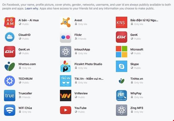 Gỡ các ứng dụng, trò chơi không cần thiết khỏi Facebook. Ảnh: M.HOÀNG