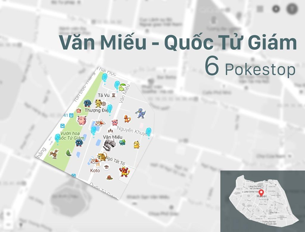Tổng hợp những địa điểm tập trung nhiều Pokemon nhất tại Việt Nam