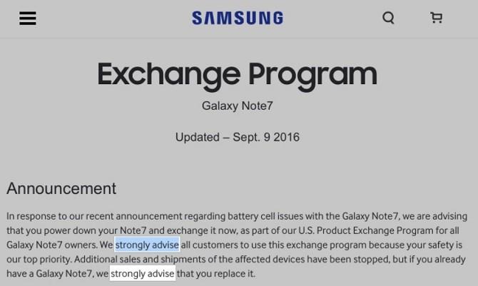 Samsung khuyến cáo người dùng