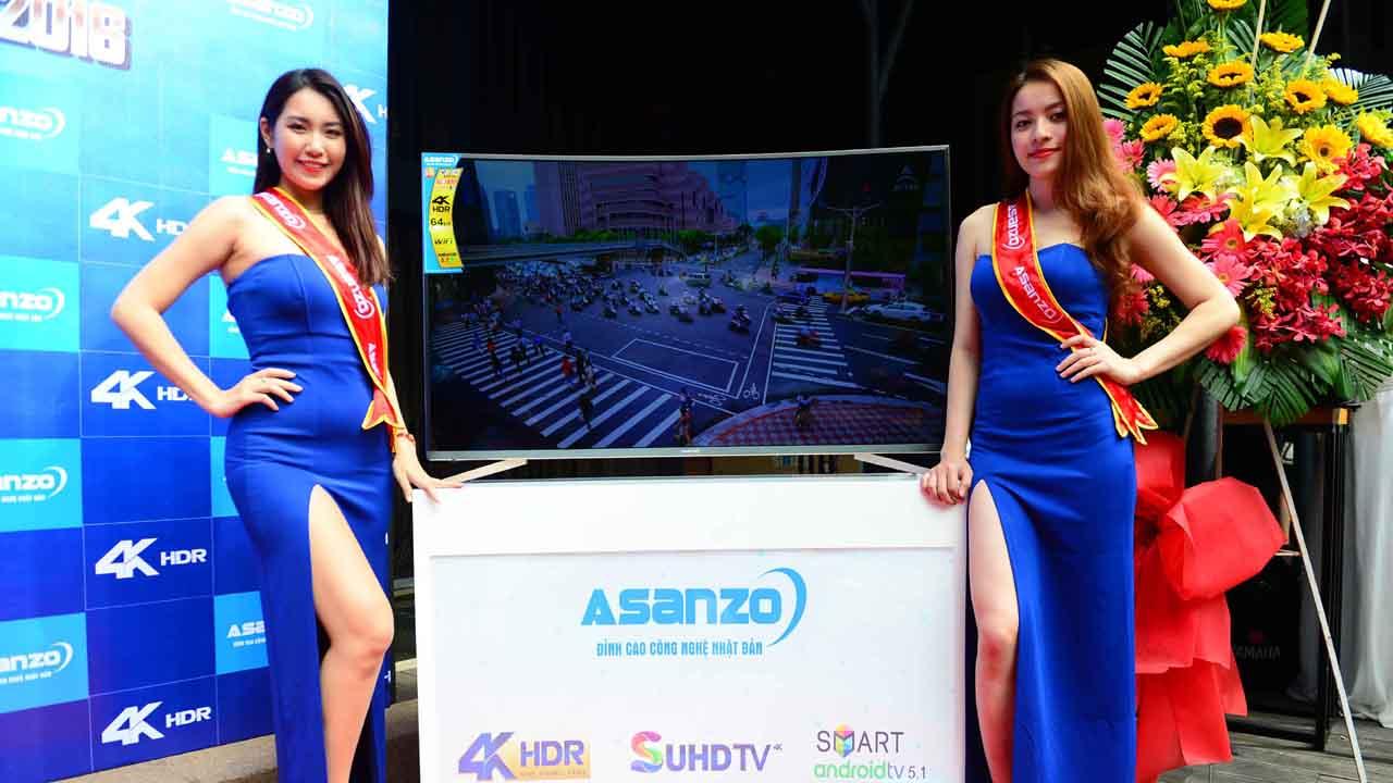1 - Asanzo ra mắt tivi màn hình cong 4K SUHD, giá từ 22 triệu đồng