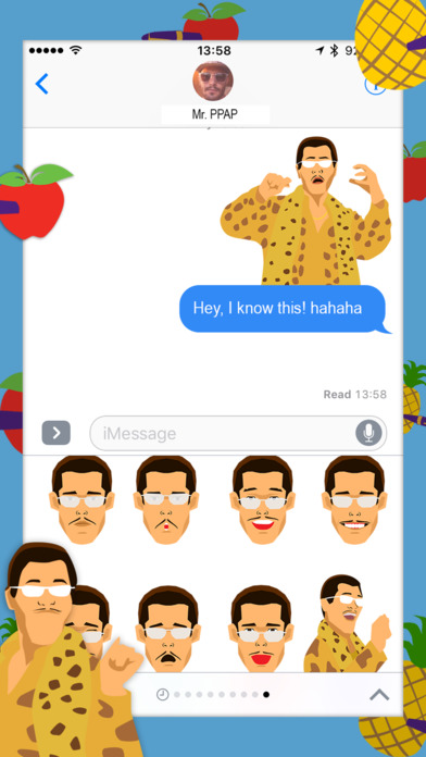 pineapple-man-stickers-ios