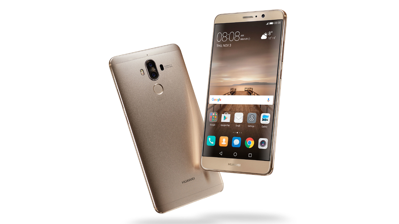 Mate 9 Champagne Gold Front Back - Huawei Mate 9 lộ diện