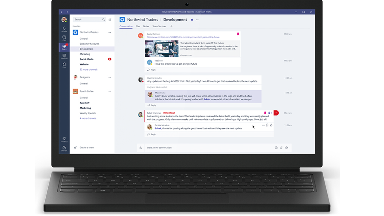 Microsoft team trainghiemso - Microsoft ra mắt dịch vụ Microsoft Teams