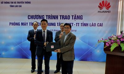 Huawei tang may tinh 25 laptop tai LaoCai3 400x240 - Huawei Việt Nam trao tặng phòng máy tính cho Lào Cai, Yên Bái