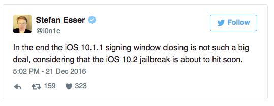 Jailbreak iOS 10.2 sắp xuất hiện