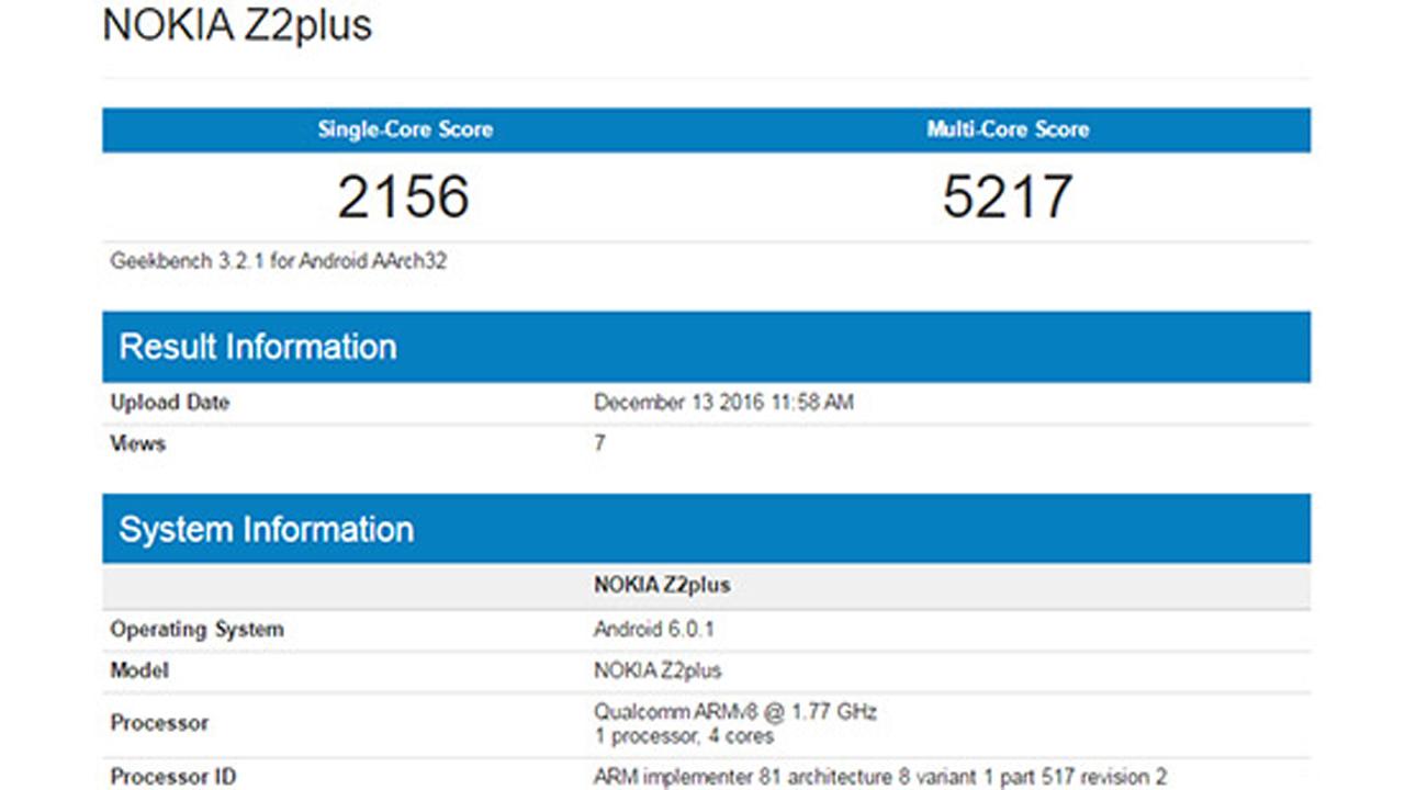 nokia z2 plus 1 - Smartphone cao cấp Nokia Z2 Plus lộ diện với RAM 4GB, chip Qualcomm