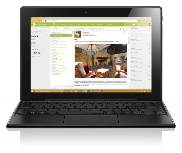 MIIX 310 04 Outlook 600x505 - Lenovo Miix 310: tablet 2-trong-1 có thể tách rời