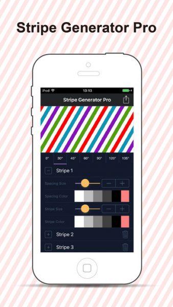 Stripe Wallpaper Generator for ios 338x600 - Tổng hợp 11 ứng dụng hay và miễn phí trên iOS ngày 16.3.2017