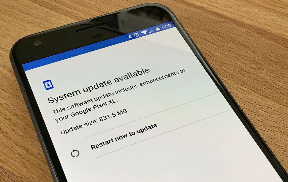 google pixel software update restart - Google và Apple cho biết đã khắc phục các lỗ hổng công bố trên Wikileaks