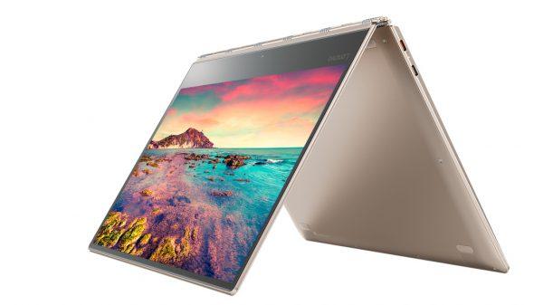 lenovo laptop yoga 910 13 tent mode 4 600x337 - Laptop Lenovo Yoga 910 ra mắt, giá 44 triệu đồng