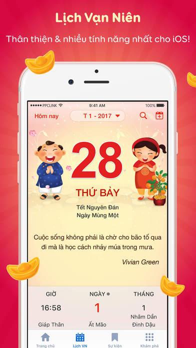 lich van nien 2017 ios - Tổng hợp 12 ứng dụng hay và miễn phí trên iOS ngày 08.03.2017