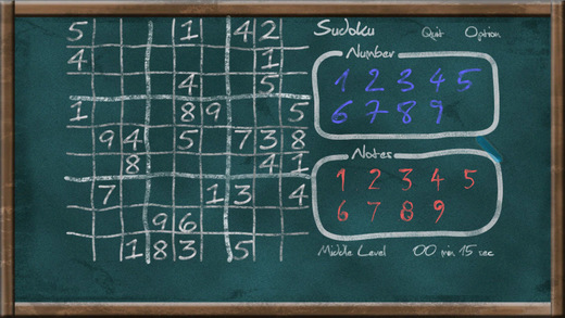 sudoku chalkboard ios - Tổng hợp 16 ứng dụng hay và miễn phí trên iOS ngày 22.3.2017
