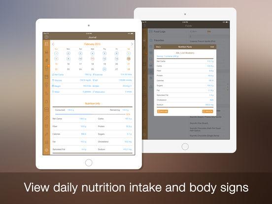 Daily Carb for iPad for ios - Tổng hợp 21 ứng dụng hay và miễn phí trên iOS ngày 20.4.2017 (phần 2)