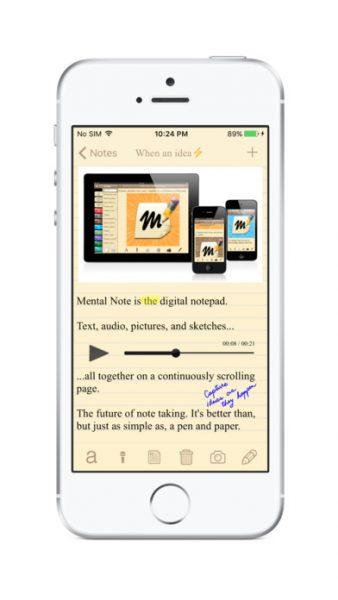 Mental Note Lite for ios 338x600 - Tổng hợp 28 ứng dụng hay và miễn phí trên iOS ngày 14.4.2017 (phần 2)