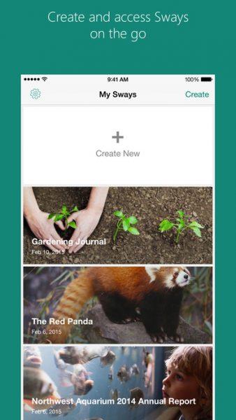 Microsoft Sway for ios 338x600 - Tổng hợp 20 ứng dụng hay và miễn phí trên iOS ngày 4.4.2017 (phần 2)