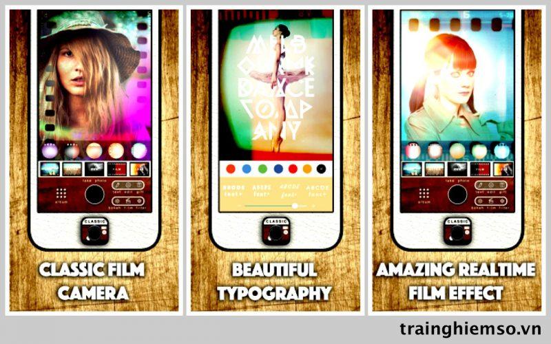 classic film camera analog ios 800x500 - Tổng hợp 31 ứng dụng hay và miễn phí trên iOS ngày 10.4.2017 (phần 2)
