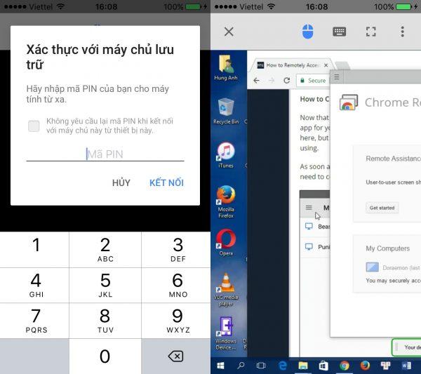 điều khiển máy tính từ xa bằng điện thoại bằng Chrome Remote Desktop