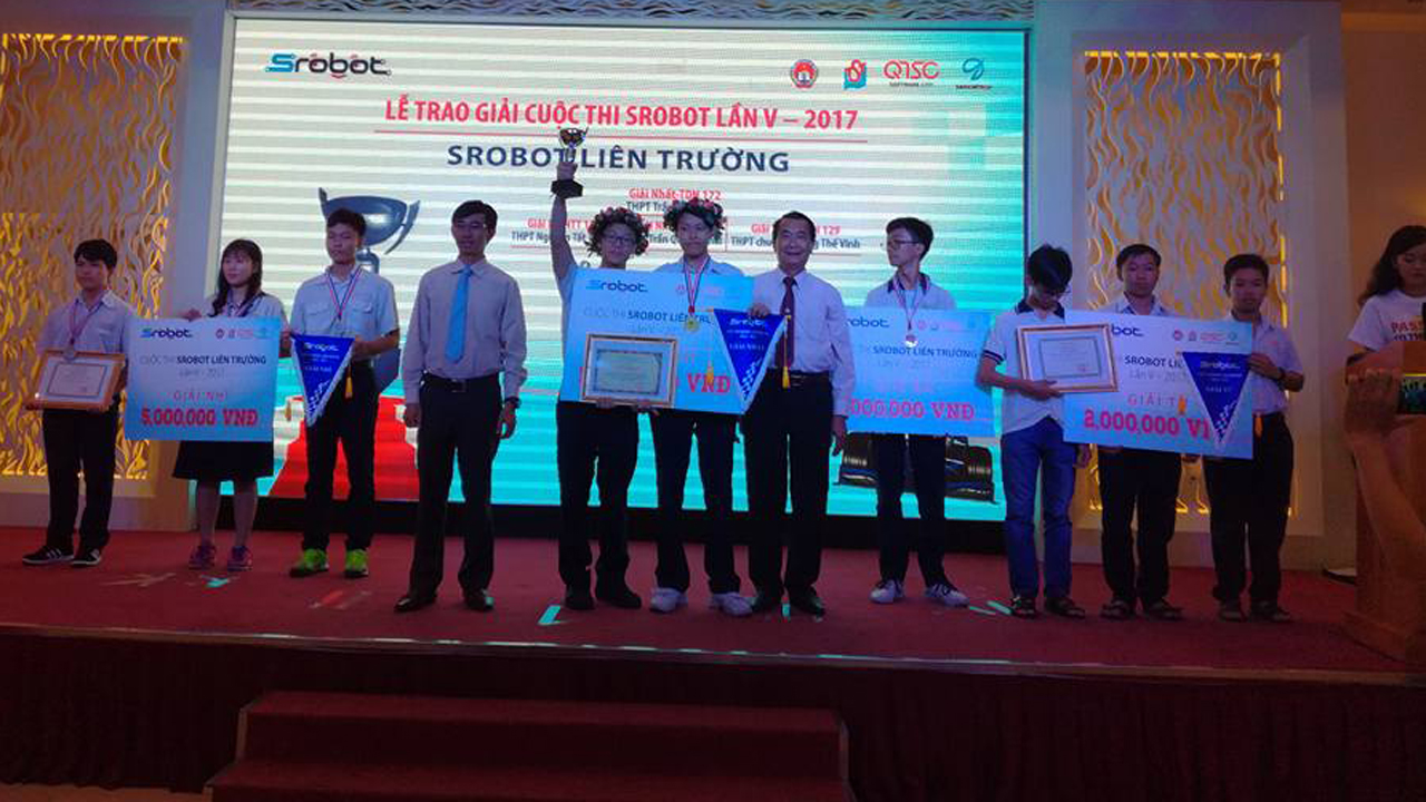 cuoc thi SRobot - Trao giải cuộc thi SRobot lần V - 2017 dành cho học sinh THPT