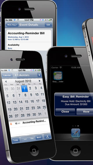 easy bill reminder ios - Tổng hợp 31 ứng dụng hay và miễn phí trên iOS ngày 17.4.2017 (phần 2)