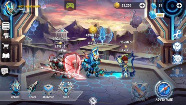 Heroes Infinity beta screenshot