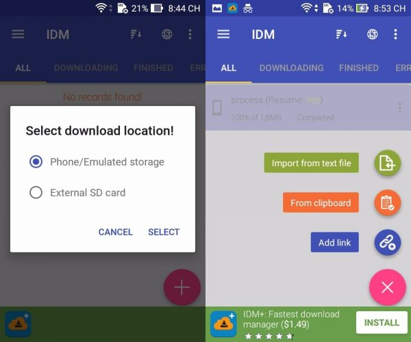 IDM: Fastest download manager giúp thay thế IDM cho Android
