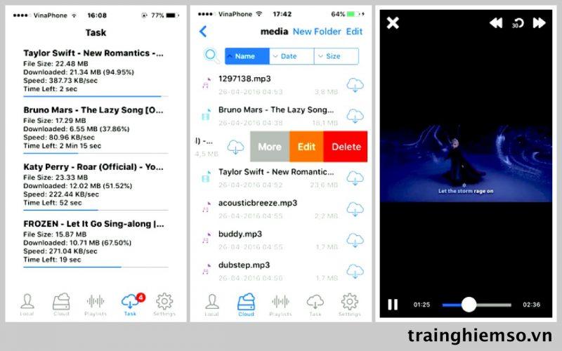 media clouds mp3 video manager ios 800x500 - Tổng hợp 31 ứng dụng hay và miễn phí trên iOS ngày 10.4.2017 (phần 2)