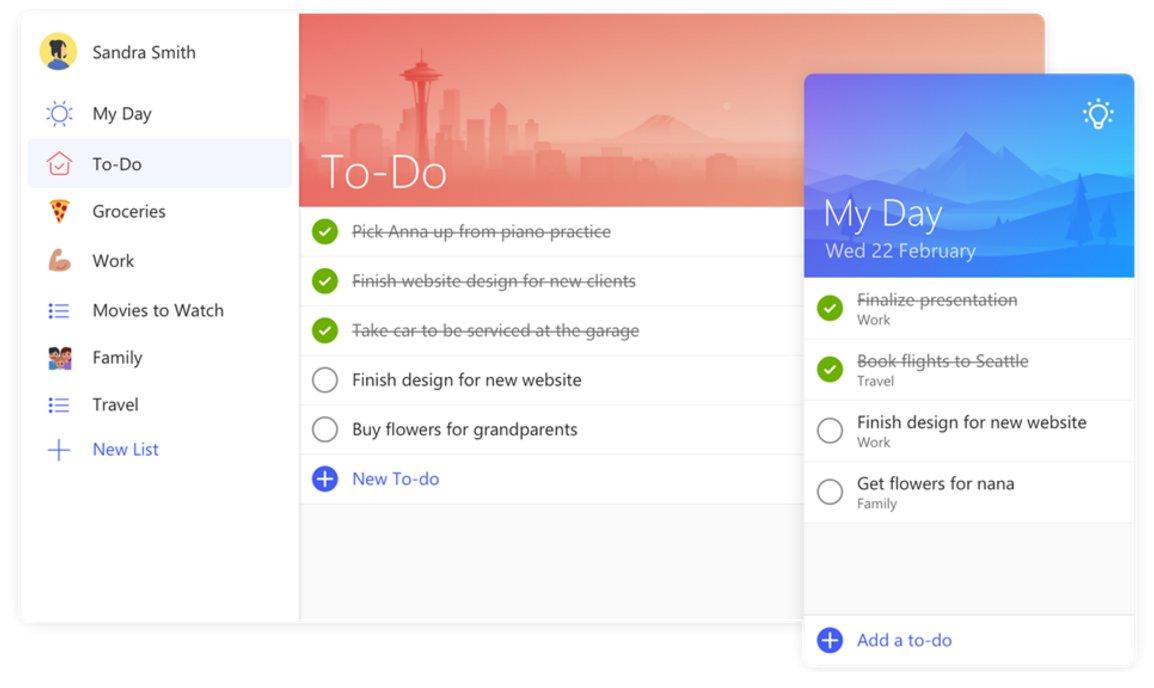 microsoft to do - Microsoft To-Do: Lên lịch công việc, nhắc nhở giữa nhiều thiết bị hoàn toàn miễn phí