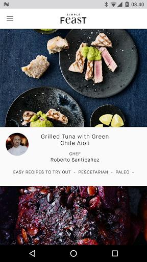 simple feast for android - Tổng hợp 5 ứng dụng hay và miễn phí trên Android ngày 04.4.2017