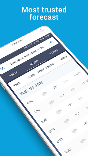 the weather channel for android - Tổng hợp 5 ứng dụng hay và miễn phí trên Android ngày 10.4.2017