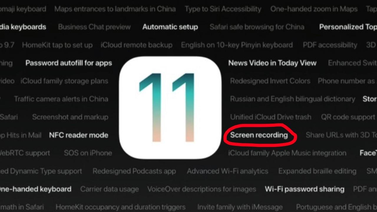 quay man hinh ios 11 featured - Phiên bản iOS 11 GM bị lộ trước 1 tuần